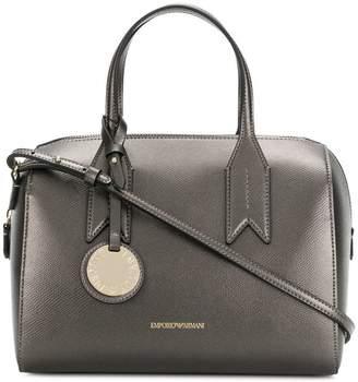 Emporio Armani charm-detail metallic satchel