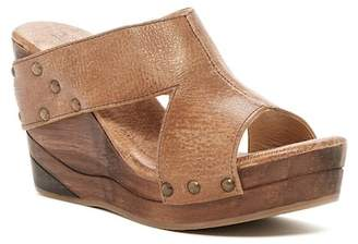 Bed Stu Olea Leather Platform Wedge Sandal $145 thestylecure.com