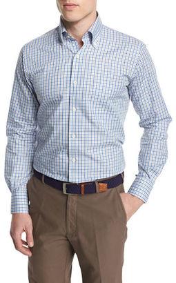 Peter Millar Check Long-Sleeve Sport Shirt $125 thestylecure.com