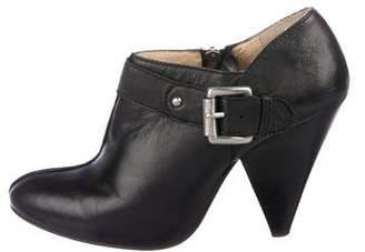 MICHAEL Michael Kors Leather Round-Toe Boots