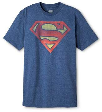 DC Comics Men's Superman Short Sleeve Graphic T-Shirt Navy