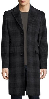 Burberry Tailored Check Wool-Cashmere Coat, Charcoal Melange $2,295 thestylecure.com