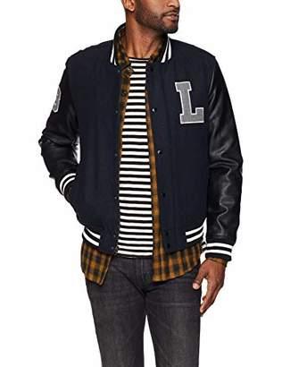 Levi's Men's Mixed Media Varsity Letterman Bomber Jacket