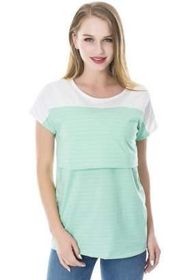 Smallshow Women's Nursing Tops Breastfeeding T-Shirt