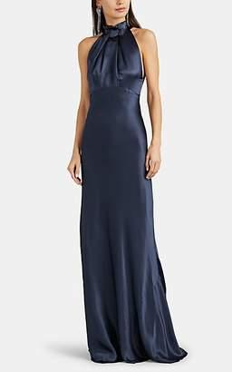 Saloni Women's Michelle Silk Gown - Navy