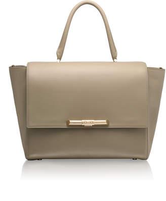Amanda Wakeley Newman Linen Beige Leather Bag