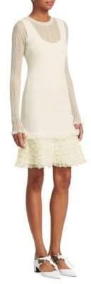 Proenza Schouler Sheer Ruffle Dress