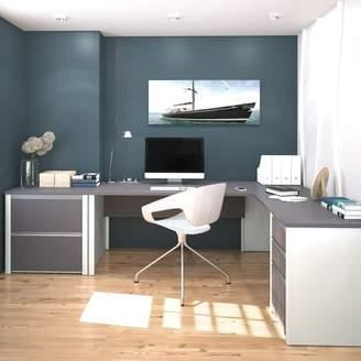 Latitude Run Karla 2 Piece L-Shaped Desk Office Suite