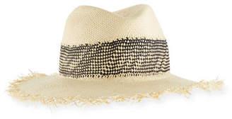 Rag & Bone Frayed-Edge Panama Hat w/ Woven Band