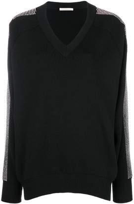 Christopher Kane crystal v-neck knit