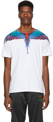 Marcelo Burlon County of Milan White and Multicolor Wings T-Shirt