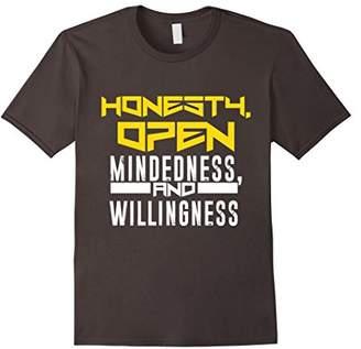 Honesty Open Mindedness Willingness Shirt Celebrate Recovery