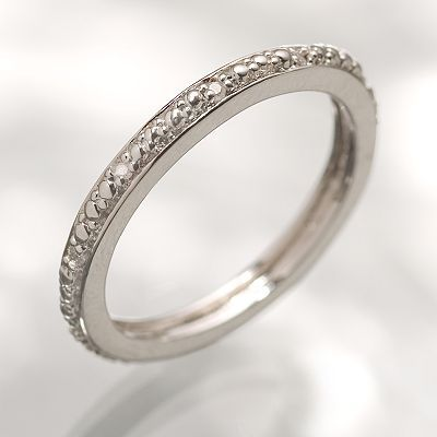 Vera Wang Simply vera sterling silver diamond accent stack ring