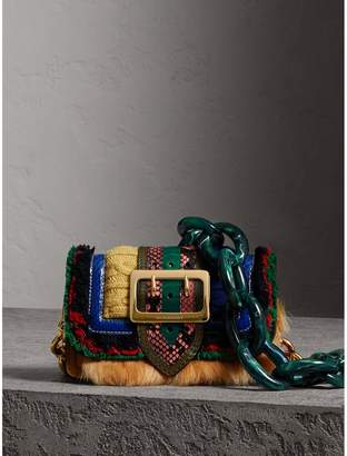 Burberry The Patchwork in Shearling and Knitted Wool