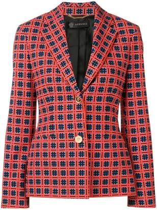 Versace printed blazer