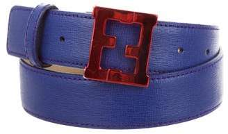Fendi Logo Leather Belt