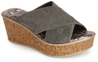 Women's Love And Liberty 'Olga' Wedge Slide Sandal $99.95 thestylecure.com