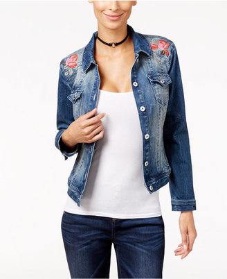 INC International Concepts Embroidered Denim Jacket, Only at Macy's $99.50 thestylecure.com