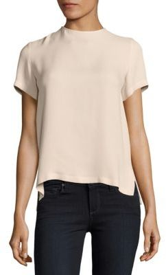 Max Mara Solid Silk Top