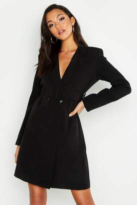 boohoo Tall Self Belt Neon Blazer Dress