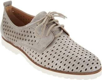 Earth Perforated Leather Lace-up Shoes - Camino