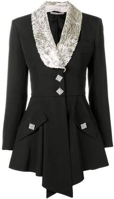 Alessandra Rich lamé collar jacket