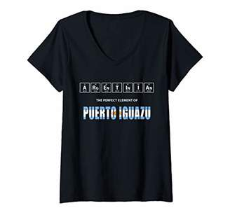 Womens Argentinian The Perfect Element Of Puerto Iguazu Argentina V-Neck T-Shirt