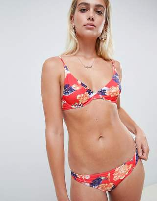 Asos DESIGN recycled Hawaiian Tropical Print Bikini Bottom