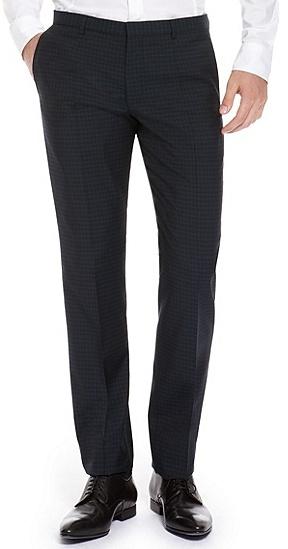 HUGO BOSS Heise Slim Fit, Virgin Wool Dress Pants - Open Blue