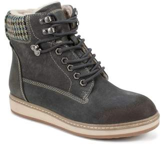 White Mountain Footwear Theo Suede Lace-Up Faux Shearling Lined Boot