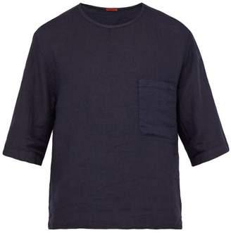 Barena Venezia - Linen Crew Neck T Shirt - Mens - Navy