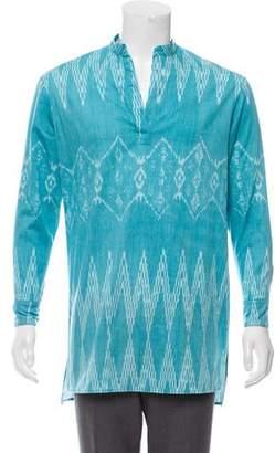 Baja East Woven Printed Shirt