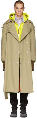 Maison Margiela Beige Oversized Trench Coat