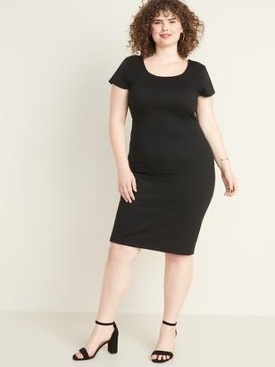 Old Navy Secret-Slim Ponte-Knit Plus-Size Sheath Dress