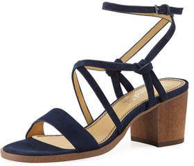 Splendid Filipa Suede Low-Heel Sandal