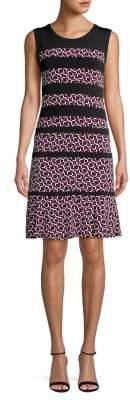 MICHAEL Michael Kors Pattern Paneled A-line Dress