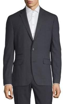 Kenneth Cole Reaction Slim-Fit Mini Grid Suit Jacket