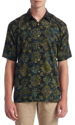 Saks Fifth Avenue COLLECTION Printed Cotton Button-Down Shirt