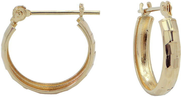 JCPenney FINE JEWELRY 14K Gold Small Hoop Earrings