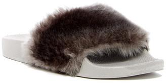 Report Gemma Faux Fur Slide Sandal $39.95 thestylecure.com