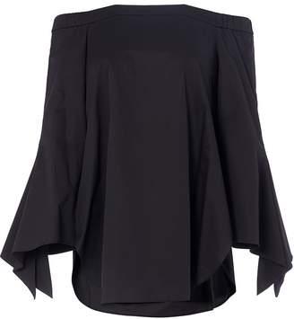 Tibi Structured Crepe Off-the-Shoulder Dress