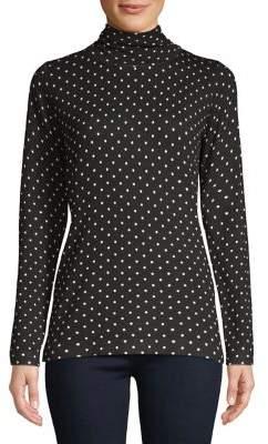Context Mini-Dot Turtleneck Sweater