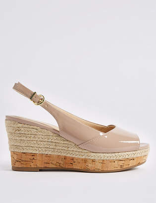 M&S Collection Wide Fit Wedge Heel Peep Toes Espadrilles
