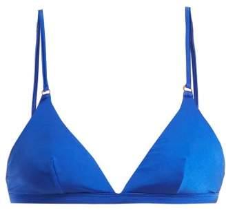 Bower - Tangiers Triangle Bikini Top - Womens - Blue