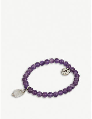 At Selfridges Psychic Sisters Herkimer Diamond And Amethyst Bracelet