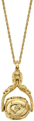 1928 Ornate Locket Pendant Necklace