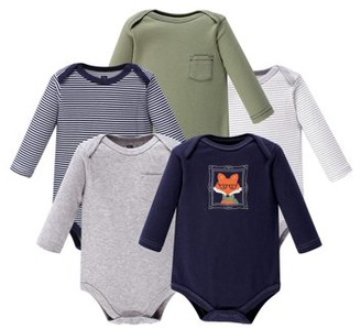 Hudson Baby Long-Sleeve Bodysuit 5Pk (Baby Boys)