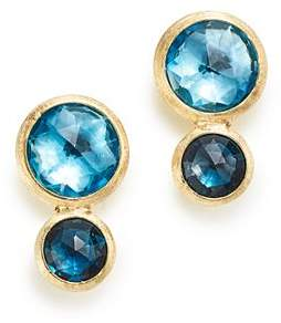 Marco Bicego 18K Yellow Gold Jaipur Mixed Blue Topaz Climber Stud Earrings - 100% Exclusive