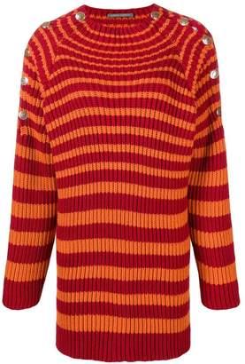 Alberta Ferretti stripped knitted dress
