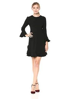 Jill Stuart Women's Ruffle Sleeve Detail Dress